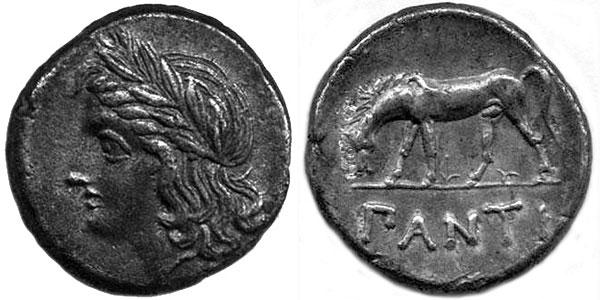 Аполлон на серебряной монете Пантикапея