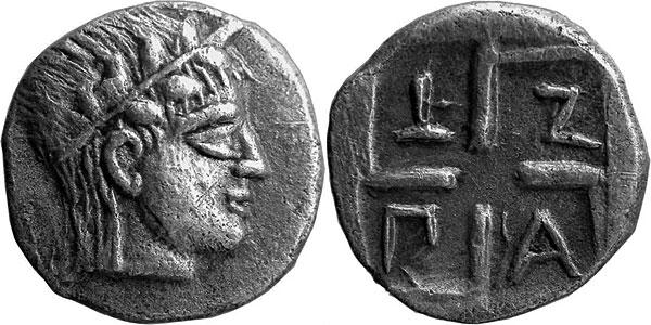Аполлон на монете Боспора