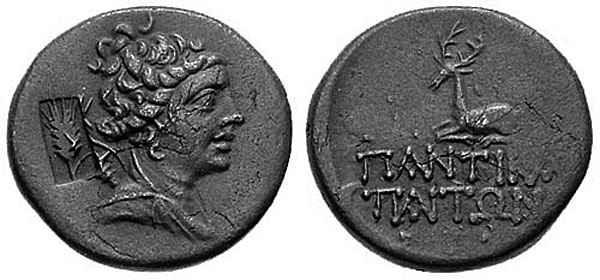 Артемида на бронзовых монетах Пантикапея и Фанагории