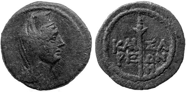 Афродита Урания изображена в высоком головном уборе (рис.10)