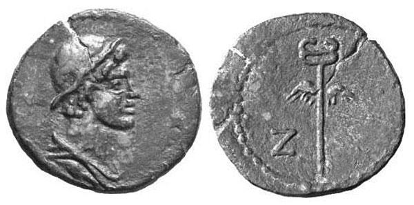 Боспорская медная монета начала I в. н.э.