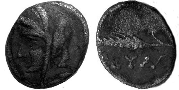 Деметра на серебряной монете из Феодосии