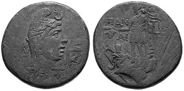 Мен на монете Пантикапея I в. н.э. (рис. 23)
