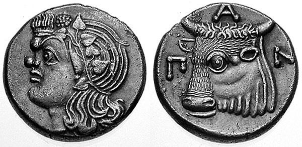 Сатир без бороды на монетах Пантикапея