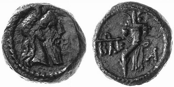 Серапис на боспорских монетах времени Митридата VI (рис.31)