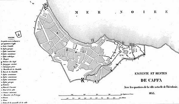 Пояс укреплений и развалин Каффы