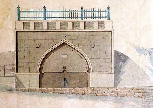 Фрагмент плана Караимский фонтан, экспоната выставки